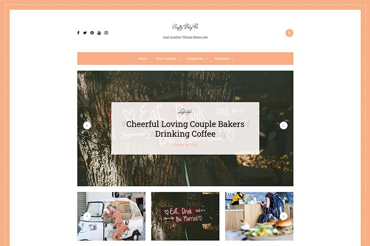 Crafty Blog Pro WordPress Theme